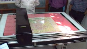 Large format scanning for artwork and maps